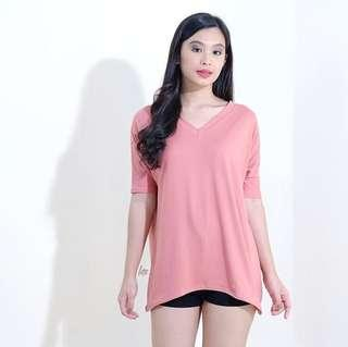 Old Rose Vneck Top
