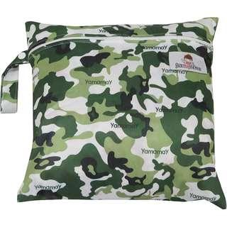 Multipurpose Single Zip with snap button Wetbag ~Camo Army