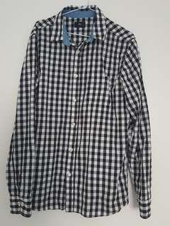 Obey checkered button up long sleeve shirt