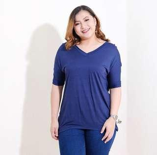 Blue Vneck Top