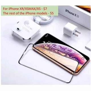 ALL iPhone Full Coverage Tempered Glass