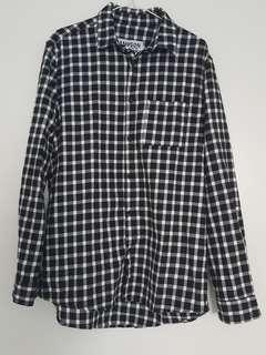 Sampson & taylor black and white button up