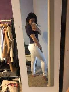 Seed Heritage White Skinny Jeans Size 6