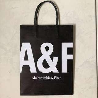 全新 A&F 中型 手提袋 紙袋