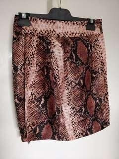 Witchery snake print wrap skirt