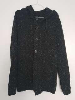Arvust black cardigan hoodie