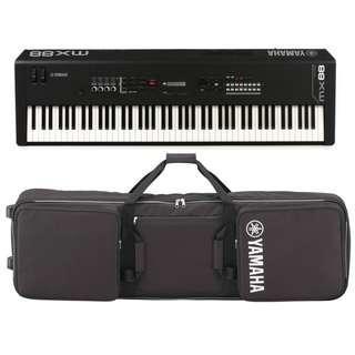 Yamaha MX88 Music Synthesizer + $11 88-key padded gig bag with wheels (while stocks last) (limited time)