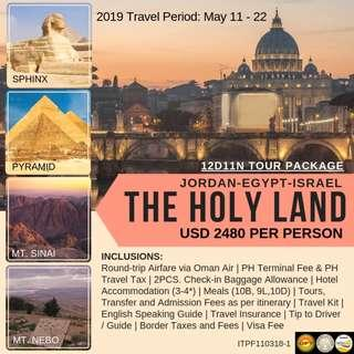 12D11N The Holy Land (Jordan - Israel - Egypt)