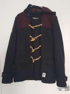 Bellfield clothing maroon and black coat