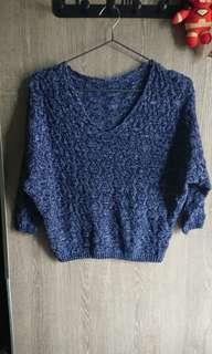 100%new Blue mel knit top