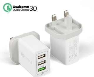 🚚 Quick charge 3.0 USB charger 3 Ports