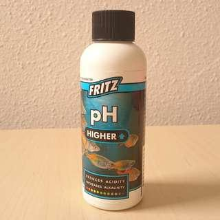 Fritz pH higher - used a few drops only