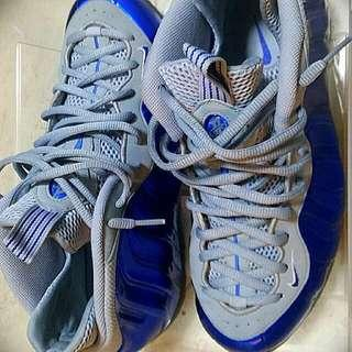 Nike FOAMPOSITE Blue and Wolf Grey