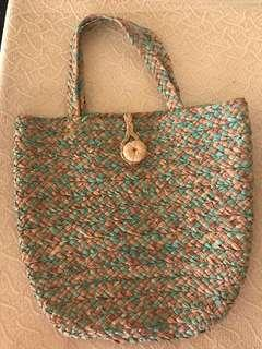 Native bag - Green and Natural/Beige