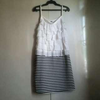Party Dress Black and White