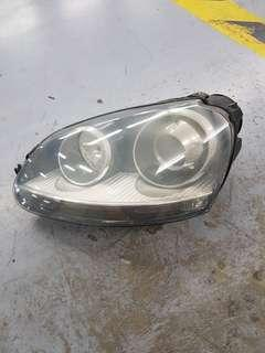 VW golf left head light