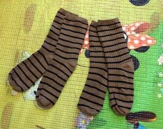 橫間小童襪