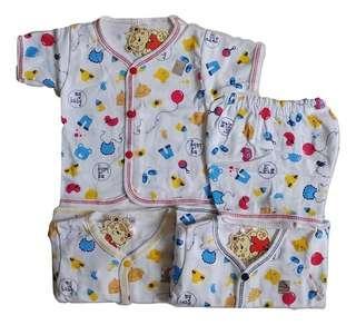 Jelova 3 Sett Setelan Baju pendek nicvin 0-6 bulan