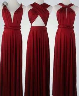 For RENT or SALE Infinity Gown Red with tube