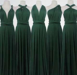 For RENT or SALE Infinity Gown Emerald Green with tube