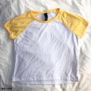 factorie raglan yellow top