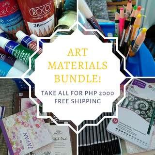 Art Materials Bundle • Take All for Php 2000 • Free Shipping