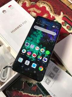 Huawei P20 Bukan Pro - 6/128GB Like New Biru Fullset