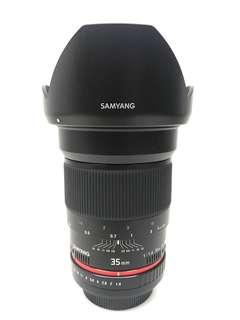Samyang F1.4 35mm AS UMC Wide Angle Lens For Sony A mount