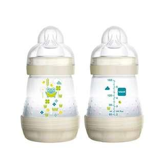🚚 MAM Anti-colic Baby Bottle 5oz/160ml, Double Pack