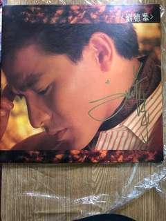全新劉德華 親筆簽名 再會了 黑膠唱片 演唱會