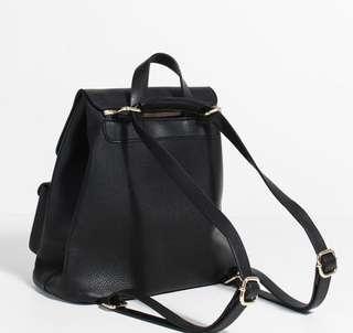 Parfois black backpack/slingbag gold details