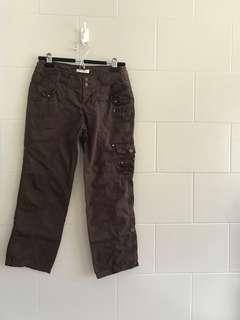 PROMOD Brown Cropped Cargo Pants