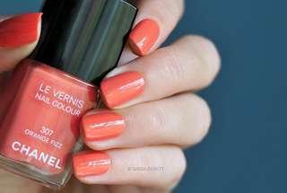 Chanel 307 Orange Fizz Nail Polish