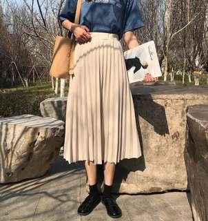 Korean Flare Skirt (khaki)