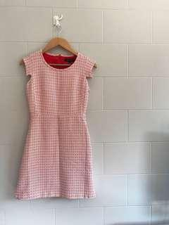 CORTEFIEL Red Patterned Dress