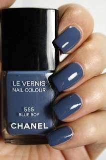 Chanel Blue Boy 555 Nail Polish
