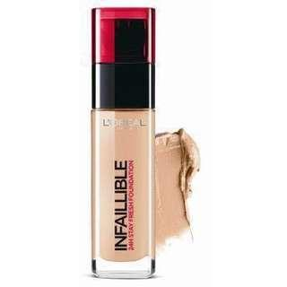 L'OREAL INFAILLIBLE FOUNDATION IN 140 GOLDEN BEIGE