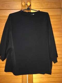 Uniqlo Black boxy Top blouse
