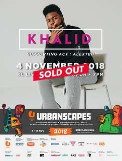 Khalid KL Live : Urbanscapes 2018