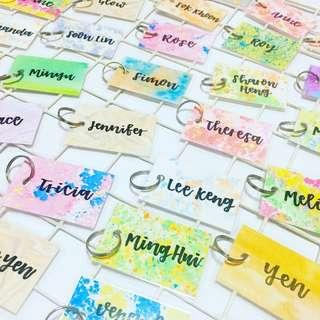 Customisable Keychain Christmas day children students student farewell calligraphy keychains key colleague gift gifts affordable cheap class School kids kid present presents personalised corporate customised colleagues birthday teacher boys girls