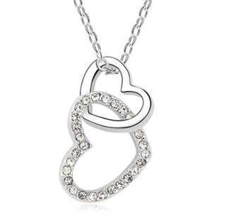 🚚 Interlocking Love Necklaces (White)