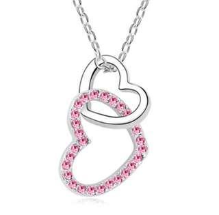 🚚 Interlocking Love Necklace (Pink)