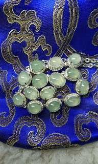 Myanmar Jade (Type A Jadeite) Translucent Cabochon 糯冰晴底缅甸玉翡翠旦面
