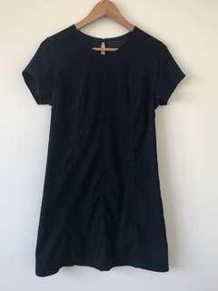 Just Jeans Navy Suede Dress