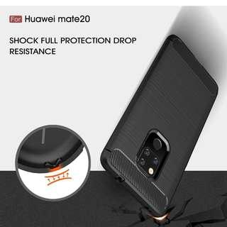 🚚 TPU Shockproof Lined Case for Huawei Mate 20 (Black)