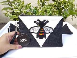 Cotton On Black Bee Clutch