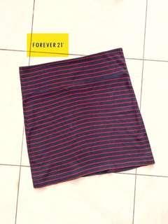 Forever21 Navy Stripe Skirt