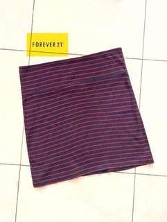 Forever 21 Navy Stripe Skirt / Rok Bodycon / Rok Garis / Rok Biru