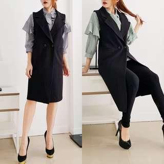 Long vest set (long vest+inner)