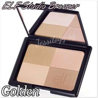 READY STOCK ELF Cosmetics Studio Bronzer / e.l.f. Cosmetics Bronzer / ELF Bronzer in GOLDEN